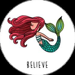 Believe Mermaid Sticker