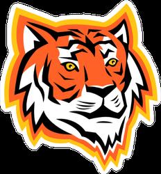 Bengal Tiger Head Mascot Sticker