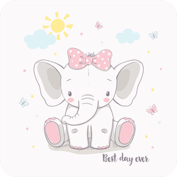 Best Day Ever Elephant Sticker