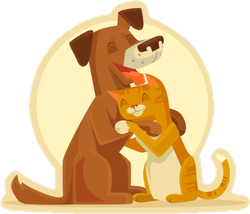 Best Friends Cat And Dog Sticker