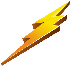 Beveled Lightening Bolt Sticker