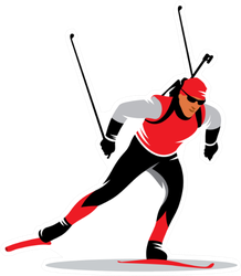 Biathlon Skiing Athlete Sticker