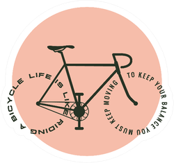 Bicycle Motivational Poster Life Is Like Riding A Bicycle Sticker