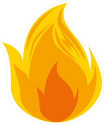 Big Burning Fire Sticker