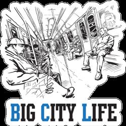Big City Life Train Sticker