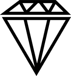 Big Diamond Vector Icon Sticker