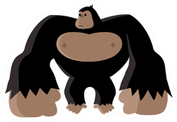 Big Gorilla Character Sticker