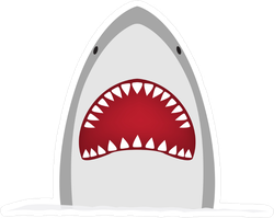 Big Grey Shark Sticker