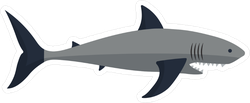 Big Mouth Shark Sticker