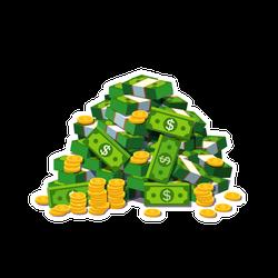 Big Pile of Money Sticker