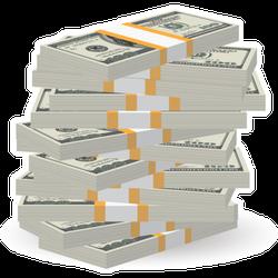 Big Stack of Money Sticker