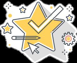 Big Star and Graphics Sticker