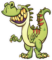 Big Toothy Smile Dinosaur Sticker
