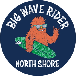 Big Wave Surf Monster Sticker
