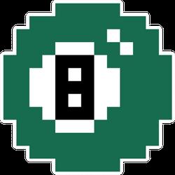 Billiard Ball Icon Pixel Art Illustration Sticker