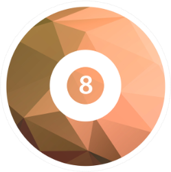 Billiard Ball Icon Sticker