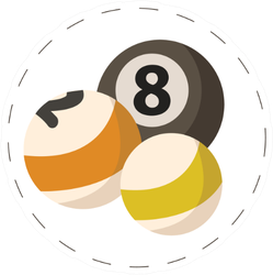 Billiard Balls Colored Sticker