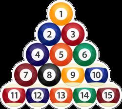 Billiard Balls Design Illustration Sticker