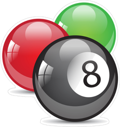 Billiard Balls Sticker