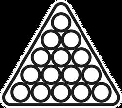 Billiard Balls Triangle Icon Sticker