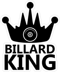 Billiard King And Balls Sticker