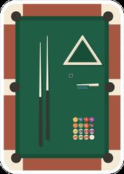 Billiards Pool Icon Set Sticker