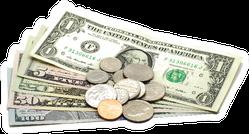 Bills and Coins Sticker