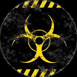 Biohazard Symbol Contamination Epidemic Stylized Grunge Sticker