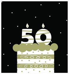 Birthday 50th Celebration Sticker