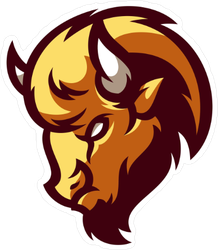 Bison Buffalo Mascot Sticker