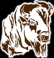 Bison Silhouette Sticker