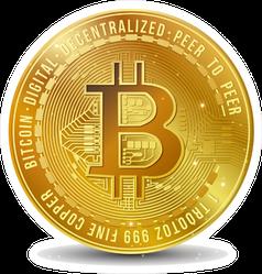 Bitcoin Symbol Sticker