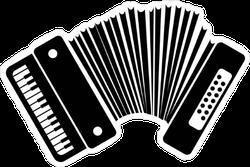 Black Accordion Icon Sticker