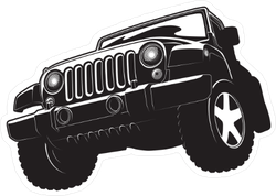 Black And White Jeep Sticker