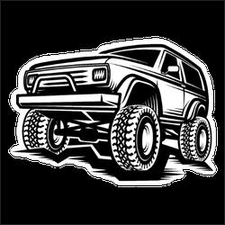 Black and White Off Road SUV Sticker