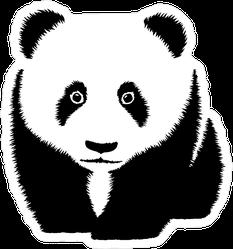 Black And White Panda Sticker