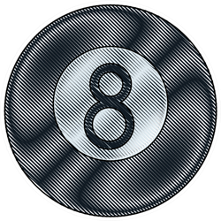 Black Billiard Ball Number Eight Sticker
