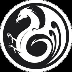 Black Dragon Circle Logo Sticker