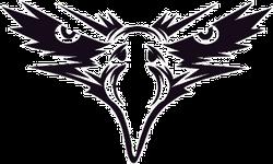 Black Eagle Face Sticker