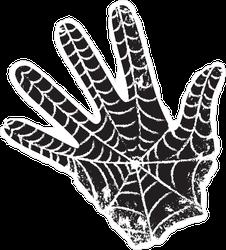 Black Hand With a Spiderweb Sticker