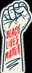 Black Lives Matter Arm Drawing Sticker