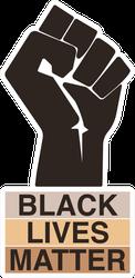 Black Lives Matter Fist Icon Sticker