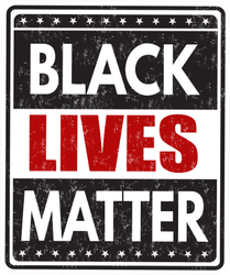 Black Lives Matter Grunge Rubber Stamp Sticker