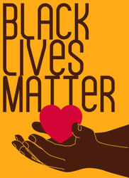 Black Lives Matter Hand With Heart Sticker