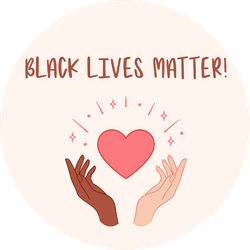 Black Lives Matter Hands Holding Red Heart Illustration Sticker