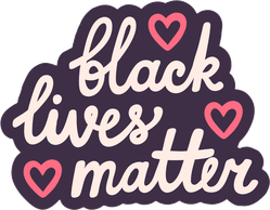 Black Lives Matter Hearts Anti Racism Sticker