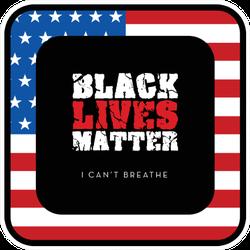 Black Lives Matter. I Can't Breathe On US Flag Sticker