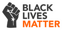 Black Lives Matter Illustration With Strong Fist Sticker