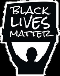 Black Lives Matter Protest Sign Sticker