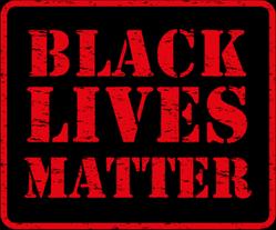 Black Lives Matter - Red Grunge Sticker